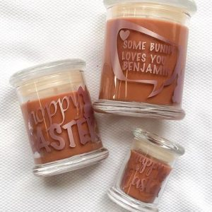 Personalised Easter Soy Candle – Chocolate