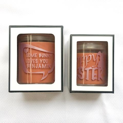 Personalise Soy Chocolate Candle Easter Vegan
