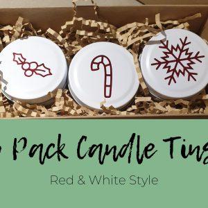 Festive Candle Tin Set
